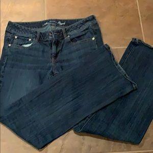 American Eagle boyfriend jeans size 12 long. Mint!